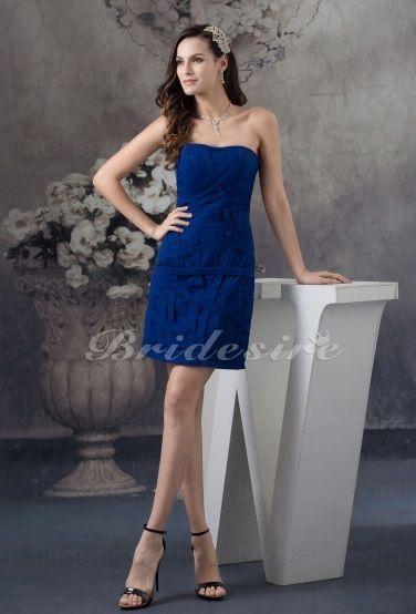 vestido Corte A Strapless Corto