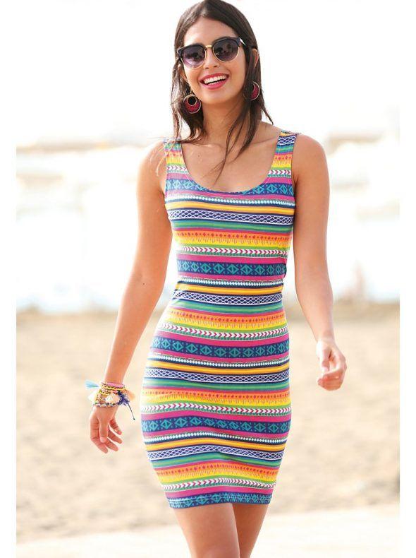 Vestido con color