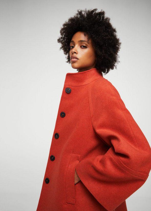 Abrigo de lana desestructurado