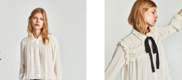 Camisas blancas en Zara